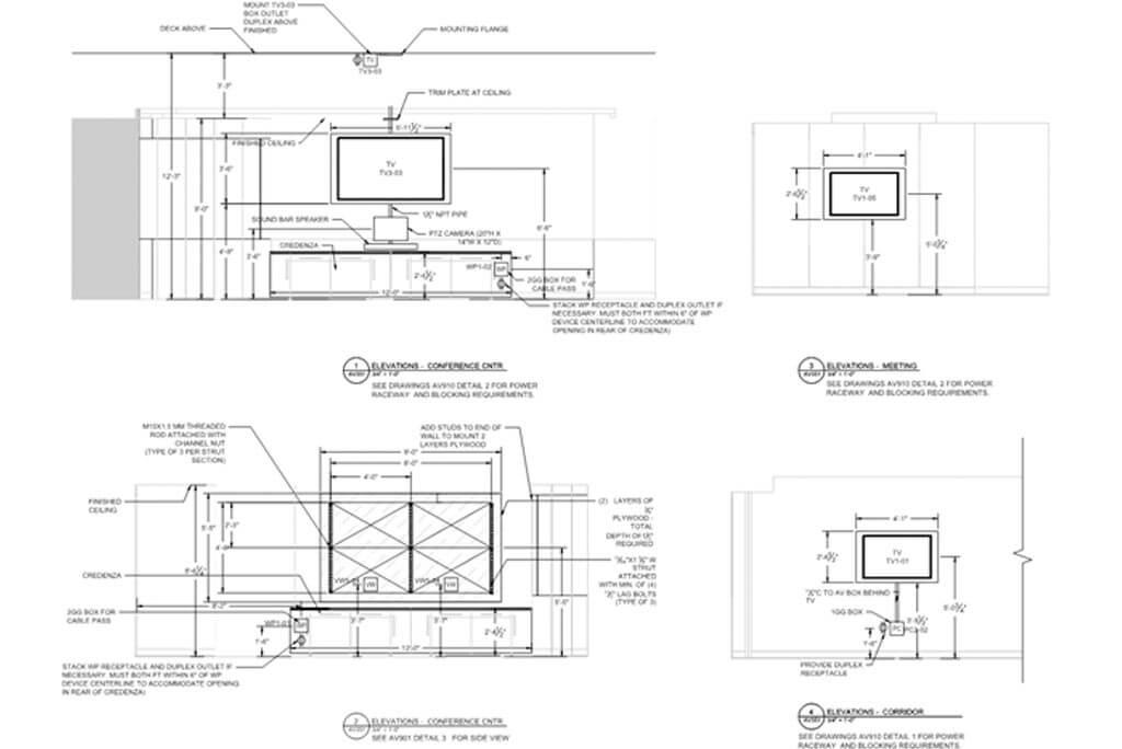 AV System detail drawings