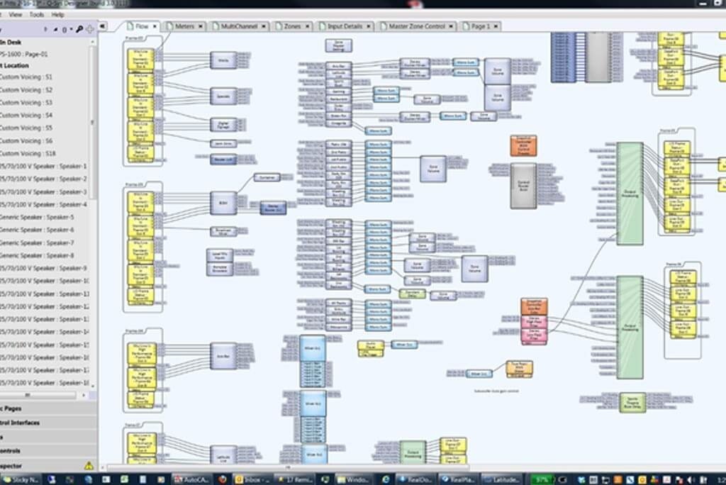 Photo of QSYS DSP layout