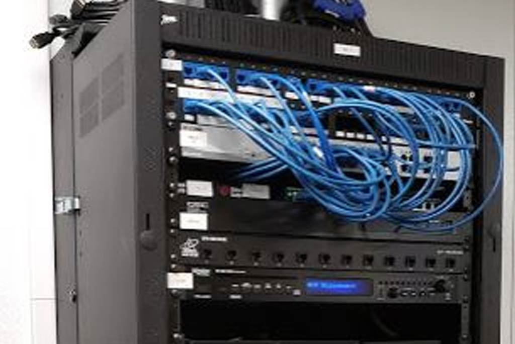 Small Structured cabling rack